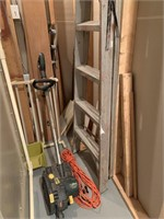 Lot of Ladder-Edger-Lumber and Misc. as Shown