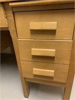 Fine Old Small Double Pedestal Desk