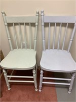 Pair of Fine Antique Chairs and Modern Stool
