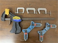 Lot of Misc. Shop Woodworking Clamps