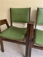 Pair of Mid Century Modern Bankers Chairs
