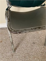 Great Old Metal Folding Factory Chair