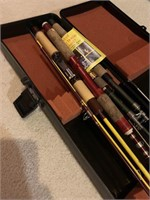 Fenwick Hard Case Loaded with Vintage Rods and Ree