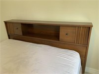 Mid Century Modern Kroelher Bookcase Headboard/Bed