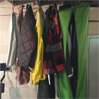 Lot of Work Clothes, Coats, 2 Pair of Boots