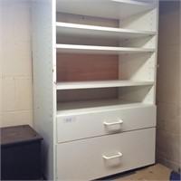 White Shelves/Drawers on Work Bench