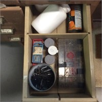 Basement Cabinet with Contents in Drawers