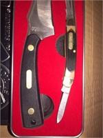 New Old Timer 2 pc Hunting and Pocket Knife Set