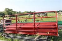 12 ft Red 6 Bar Gate   2xBID