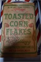 Kellogs Toasted Corn Flakes Cardboard Sign