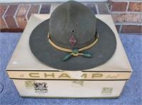 WW2 Military Hat W/Box