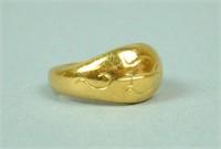 22K BALI GOLD RING