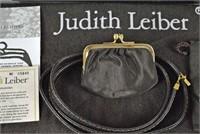 JUDITH LEIBER BROWN LIZARD HANDBAG