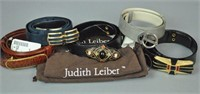 (5) JUDITH LEIBER BELTS