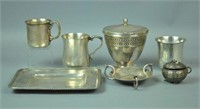 (8) PIECE STERLING GROUP INCL. TIFFANY & SPRATLING
