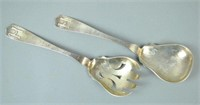 ANNA EICHER ARTS & CRAFTS STERLING SALAD SET