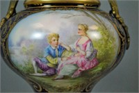 PAIR FRENCH SEVRES-STYLE PORCELAIN LAMPS