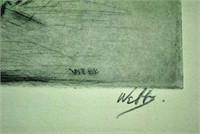 (4) ETCHINGS SIGNED WEBB