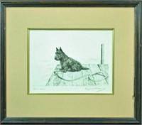 MARGUERITE KIRMSE DOG ETCHING