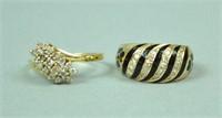 (2) 14K DIAMOND RINGS