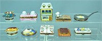 (10) LIMOGES TRINKET BOXES - FOOD THEMED