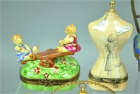 (12) LIMOGES TRINKET BOXES - MOSTLY VANITY THEMED