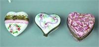 (12) LIMOGES TRINKET BOXES - LOVE & ROMANCE THEMED