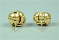 PAIR 14K LOVE KNOT EARRINGS