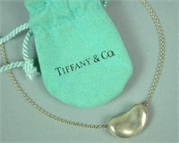 ELSA PERETTI FOR TIFFANY STERLING BEAN NECKLACE