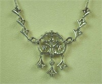 EDWARDIAN DIAMOND LAVALIER NECKLACE, 2.70CTW