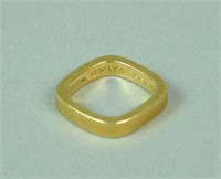 18K SQUARE GOLD BAND