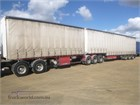 2008 Maxitrans Curtainsider Trailer B Double Trailer Set