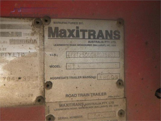 2008 Maxitrans Curtainsider Trailer Western Traders 87 - Trailers for Sale