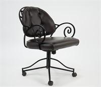 4 Iron Vinyl Seat Rolling Chairs