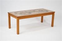 Danish Tile Top Coffee Table