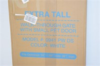 Extra Tall Walk Through Gate with Pet Door