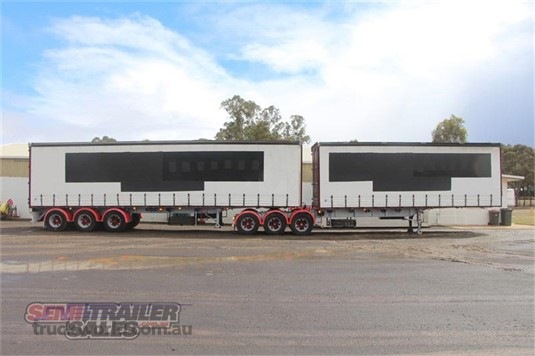 1996 Vawdrey 34 Pallet Curtainsider B Double Set - Trailers for Sale