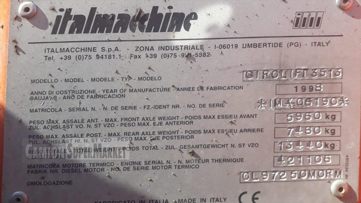 ITALMACCHINE 3513 Usato 1998 Lazio