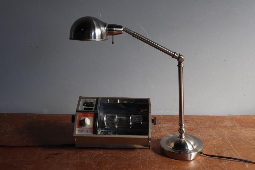Vintage Sperti Sun Lamp Desk Lamp Lincoln Crum Auctions