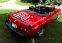 1976 MG Convertible Sports Car, Color: Red,