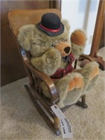Children's Chair with Stuffed Teddy Bear