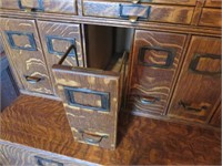 Yawman and Frbe MFG Co. Wood Filing Cabinet