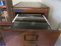 Four Drawer Wood Filing Cabinet
