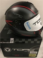 TORC HELMETS WITH TB28 BLUETOOTH SIZE LARGE