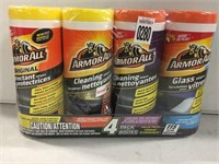 4 PACK ARMOR ALL PROTECTANT WIPES