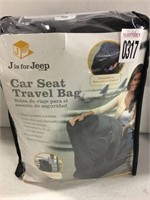 J IS FOR JEEP CAR SEAT TRAVEL BAG 20''X29''X18""