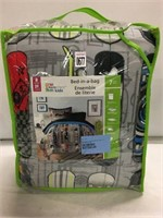 BED IN  A BAG QUILT KIDS SIZE DOUBLE 7PCS