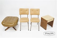 Ottoman, 2 Chairs and Vanity Stool