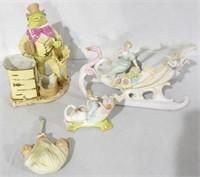 4 Figurines/planters