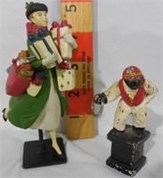 Small Cast Iron Jockey, Christmas Shopper